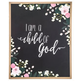 I Am A Child Of God Wood Wall Decor